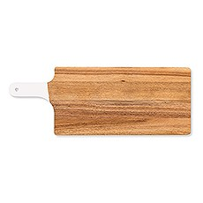 Wooden Cutting & Serving Board with White Handle