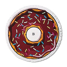Round Beach Towel - Chocolate Donut