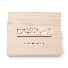 Personalized Wooden Keepsake Gift Box with Hinged Lid - You Are My Home