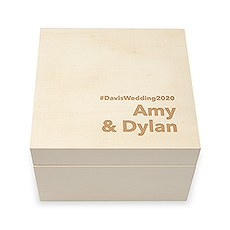 Personalized Wooden Keepsake Gift Box - Block Font Etching