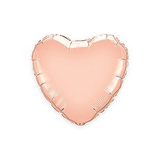 "Mylar Foil Helium Party Balloon Decoration - 18"" Rose Gold Heart"