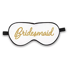 Satin Bridesmaid Sleep Mask - White