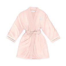 Personalized Junior Bridesmaid Satin Robe with Pockets - Blush Pink