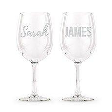 Large Personalized Wine Glass Set