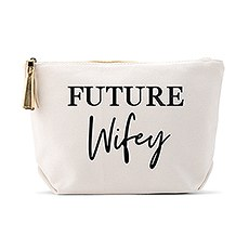 Large Personalized Canvas Makeup And Toiletry Bag For Women - Future Wifey