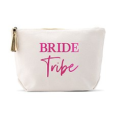 Personalized Canvas Makeup And Toiletry Bag For Women - Bride Tribe