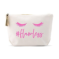 Personalized Canvas Makeup And Toiletry Bag For Women - #Flawless