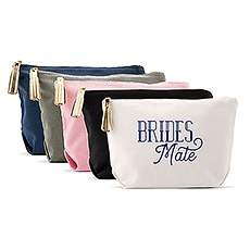 Large Personalized Canvas Makeup Bag - Brides Mate