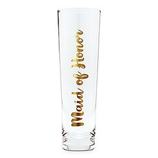 Stemless Toasting Champagne Flute Gift for Wedding Party - Maid of Honor
