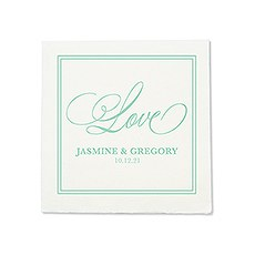Personalized Color Printed Wedding Napkins - Glitz and Glam