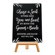 Custom Wedding Chalkboard Sign - Choose A Seat