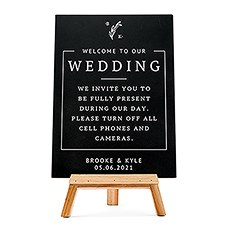 Custom Wedding Chalkboard Sign - Rustic Love