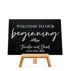 Custom Wedding Chalkboard Sign - Our Beginning