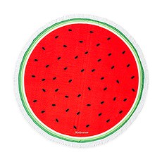 Personalized Round Beach Towel - Watermelon Pattern