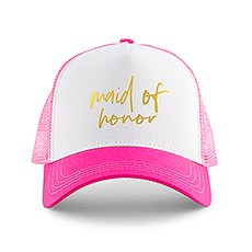 Wedding Party Snapback Trucker Hats - Maid of Honor