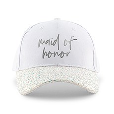Women's Wedding Party Glitter Hats - Maid of Honor