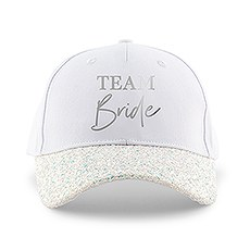 Women's Wedding Party Glitter Hats - Team Bride