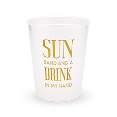Personalized Frosted Plastic Party Cups - Drink In My Hand - Set of 8