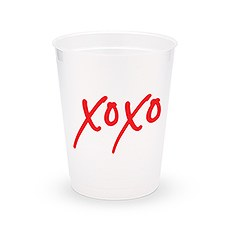 Personalized Frosted Plastic Party Cups - XOXO - Set of 8
