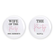 Personalized Bridal Party Wedding Pins - The Party