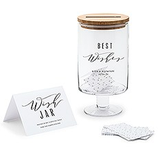 Personalized Glass Wedding Wishes Guest Book Jar Best Wishes The Knot Shop