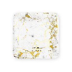 Small Square Disposable Paper Party Plates - Geo Marble - Set of 8