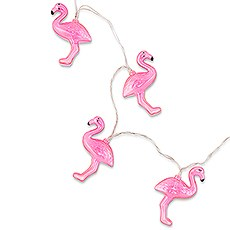Decorative Battery Operated LED String Lights - Pink Flamingo