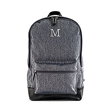 "Personalized Classic Backpack with 15"" Laptop Sleeve - Heathered Black"