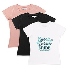 Personalized Bridal Party Wedding T-Shirt - Bibbidi Bobbidi Bride