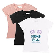 Personalized Bridal Party Wedding T-Shirt - Mermaid Bride