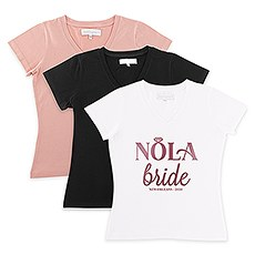 Personalized Bridal Party Wedding T-Shirt - Nola Bride