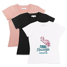 Personalized Bridal Party Wedding T-Shirt - Final Flamingle