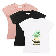 Personalized Bridal Party Wedding T-Shirt - Tropical Bride