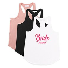Personalized Bridal Party Wedding Tank Top - Bride