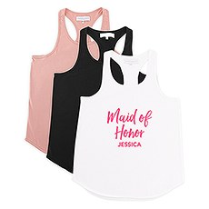 Personalized Bridal Party Wedding Tank Top - Maid of Honor