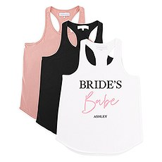 Personalized Bridal Party Wedding Tank Top - Bride's Babe