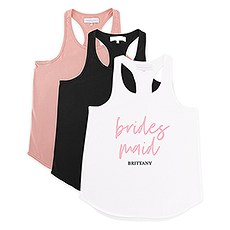 Personalized Bridal Party Wedding Tank Top - Bridesmaid Script