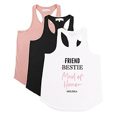Personalized Bridal Party Wedding Tank Top - Maid of Honor Checklist