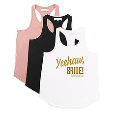 Personalized Bridal Party Wedding Tank Top - Yeehaw Bride