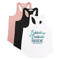 Personalized Bridal Party Wedding Tank Top - Bibbidi Bobbidi Bride