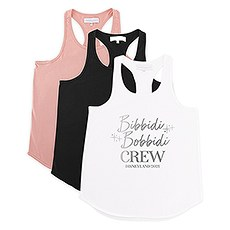 Personalized Bridal Party Wedding Tank Top - Bibbidi Bobbidi Crew