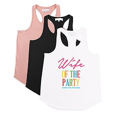 Personalized Bridal Party Wedding Tank Top - Wife of the Party