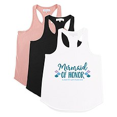 Personalized Bridal Party Wedding Tank Top - Mermaid of Honor