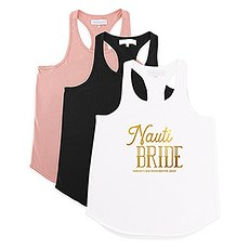 Personalized Bridal Party Wedding Tank Top - Nauti Bride