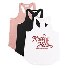 Personalized Bridal Party Wedding Tank Top - Mate of Honor
