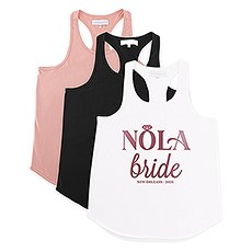 Personalized Bridal Party Wedding Tank Top - Nola Bride