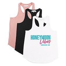 Personalized Bridal Party Wedding Tank Top - Honeymoon Vibes