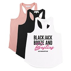 Personalized Bridal Party Wedding Tank Top - Blackjack, Booze and Besties