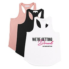 Personalized Bridal Party Wedding Tank Top - We're Getting Drunk