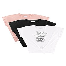 Personalized Bridal Party Tie-Up Wedding Shirt - Bibbidi Bobbidi Crew